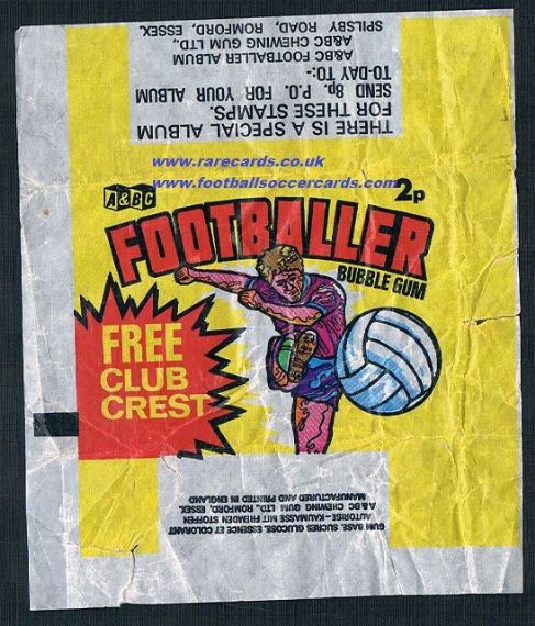 1971 A&BC Footballer packet wrapper